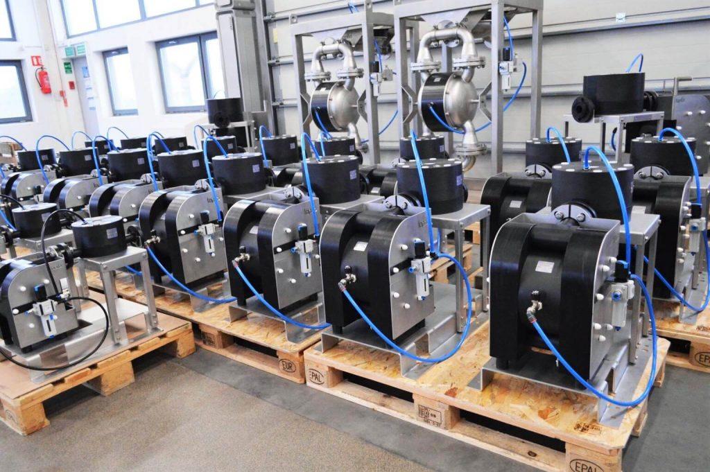 ATEX Diaphragm Pumps in warehouse