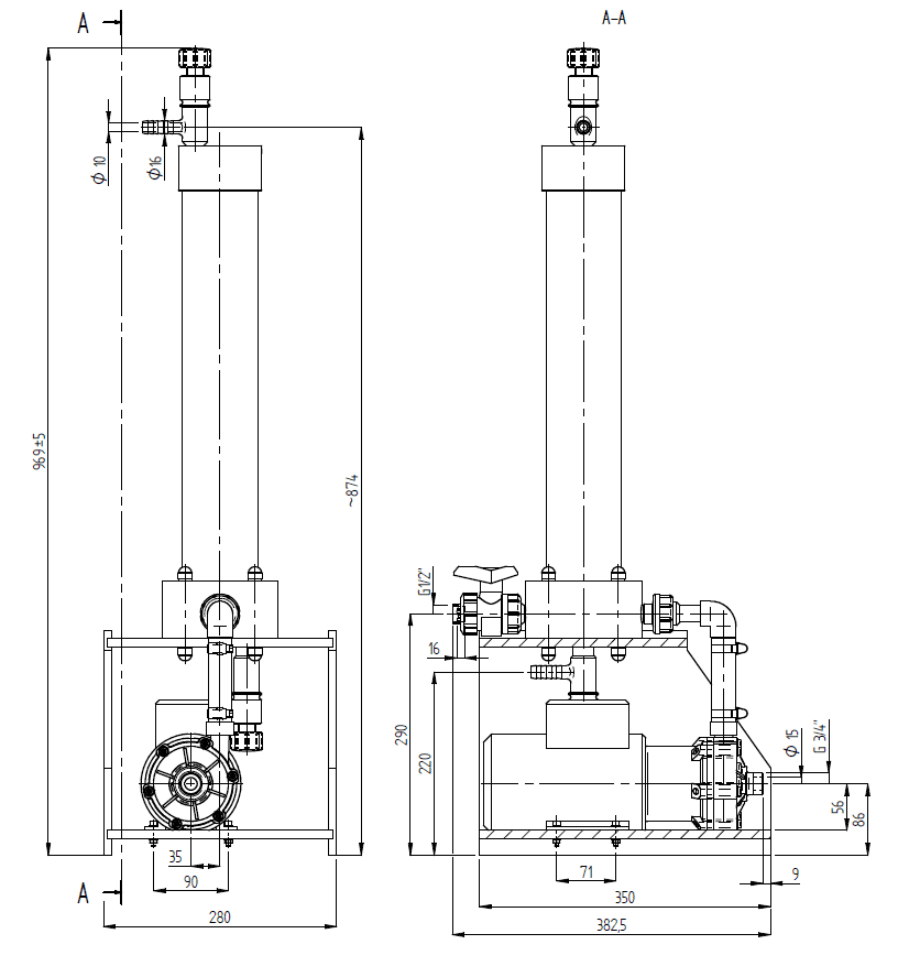 Filtration and Purification System - 80 Dimensions
