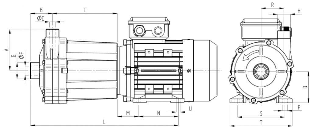 Mag Drive Centrifugal Pump Dimensions