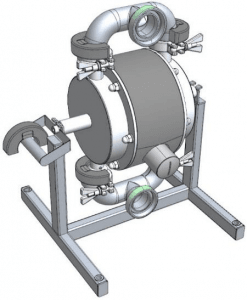 Magnetic Ball Lifters on Tapflo's Sanitary Diaphragm Pump
