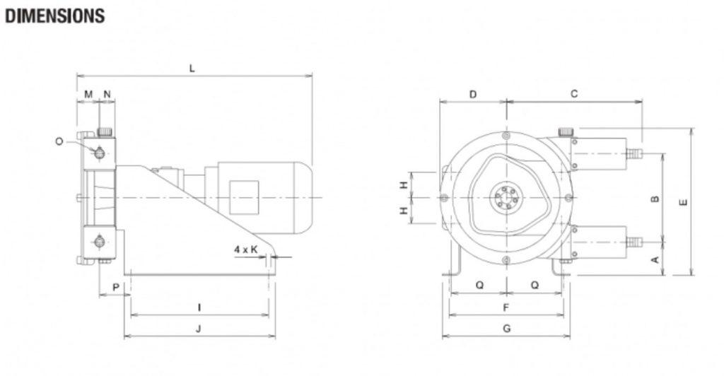 Peristaltic Pump Dimensions