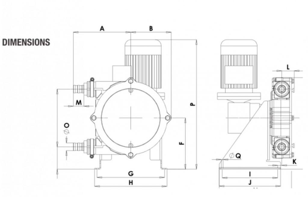 Peristaltic_Pump_ALP, PTL_13_Dimensions