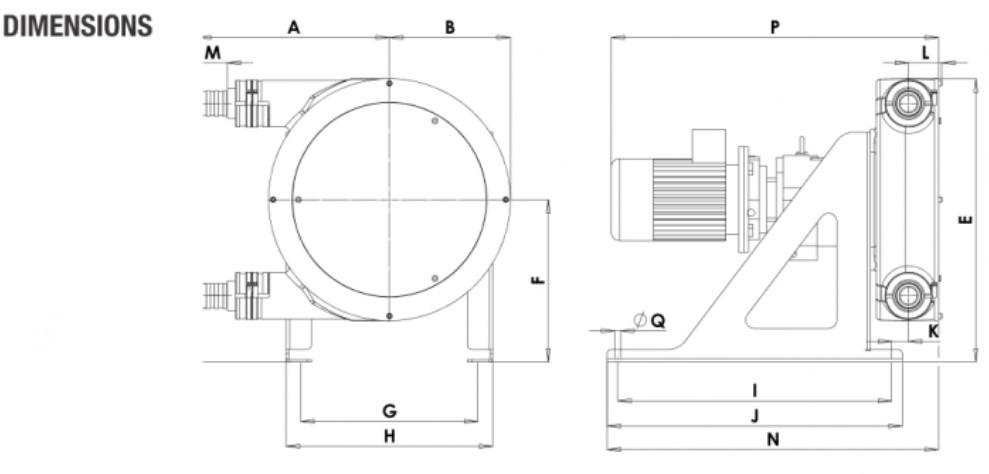 Peristaltic_Pump_ALP, PTL_30_dimensions