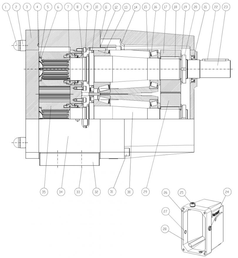 Sanitary_Lobe_Pump_Spare_Parts_Diagram