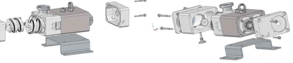 Sanitary Twin Screw Pump Exploded diagram