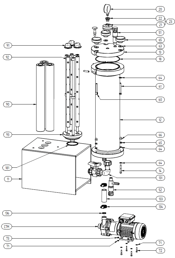 Filtration and Purification System - 160 Spare Parts