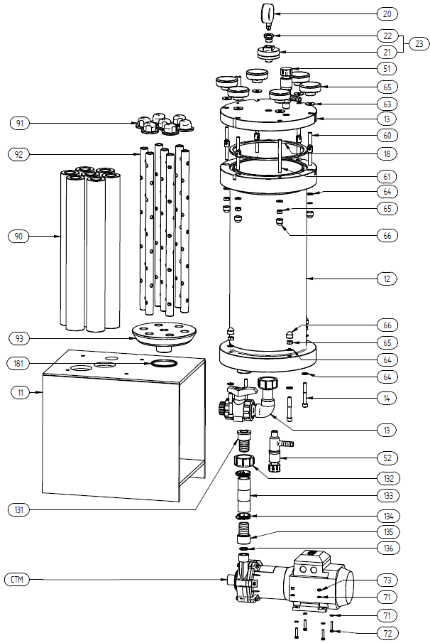 Filtration and Purification System - 210 Spare Parts