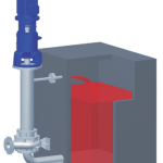 Vertical Immersion Centrifugal Pump installed in external tank