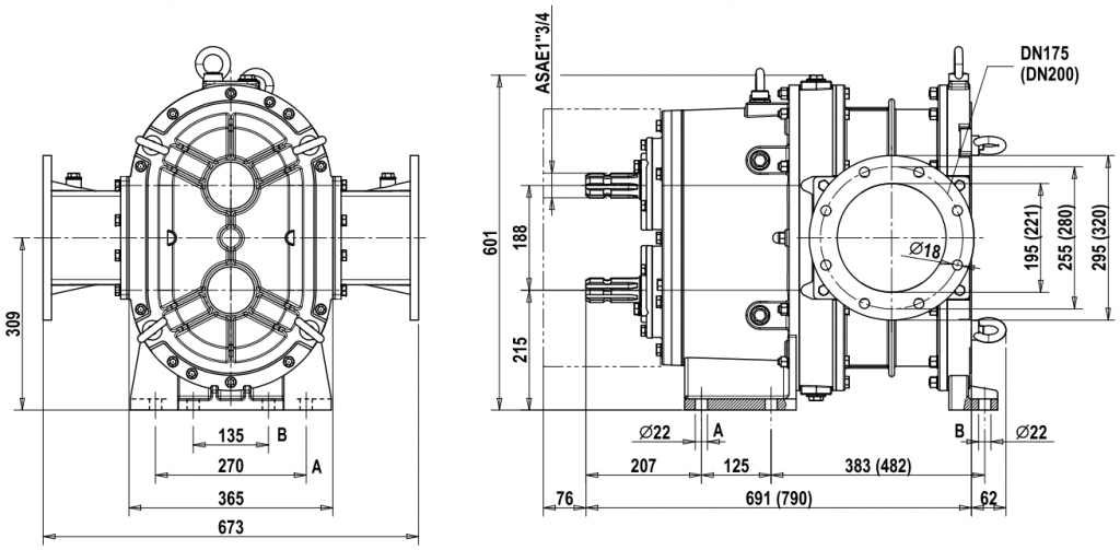 Dimensions for MG 35-50