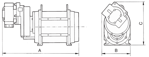 Dimensions for Hydraulically Driven Lobe Pump