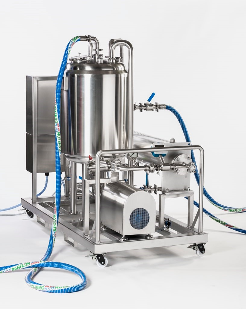 Fully built CIP Skid System containing CPC Centrifugal Pump & Tapflo's Ancillary accessories