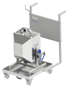 Hygienic Diaphragm Pump trolley solution with Insulating Cover for noise reduction