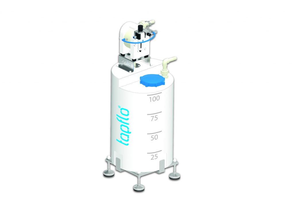 Tapflo all-in-one tank solution with AOD