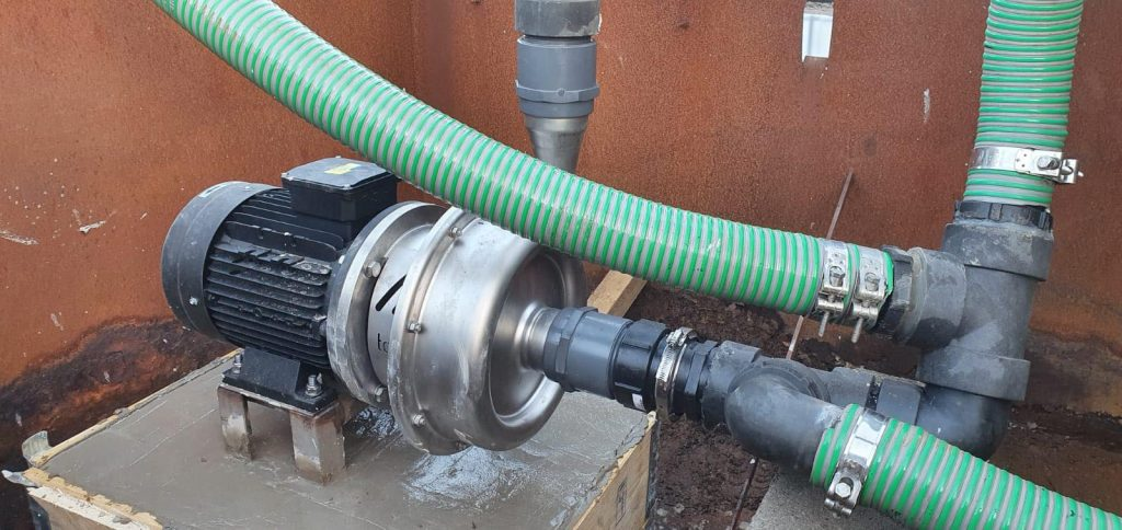 High Performance Centrifugal Pump installed on customer's site