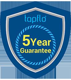 Tapflo 5 year guarantee badge