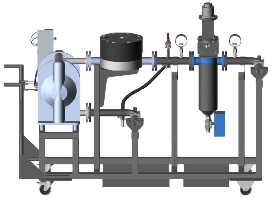 mobile paint filtration system diagram
