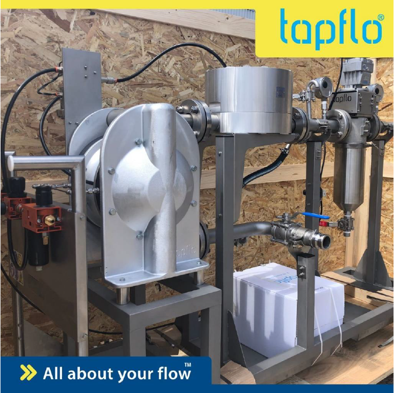 mobile paint filtration system installed on site
